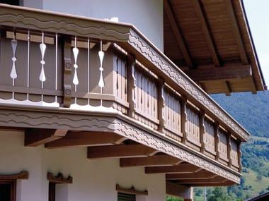Wooden balconies Wooden balconies