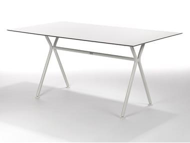 Rectangular aluminium garden table NIZZA | Rectangular table