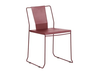 Sled Base Galvanized Steel Garden Chair CHICAGO | Sled Base Chair