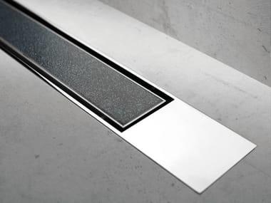 Metal shower channel MODULO DESIGN Z-2 TILE + CHROME-PLATED