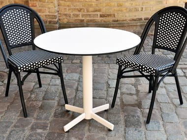 Metal table with 4-star base STABLETABLE CLASSIC | Table