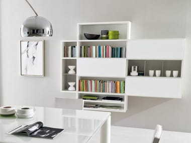 Libreria laccata sospesa LINK SYSTEM | Libreria sospesa
