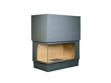 Corner steel Fireplace insert with Panoramic Glass VLG 900