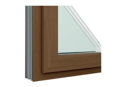Finestra in alluminio e legno con anta in Fibex Serie 502H