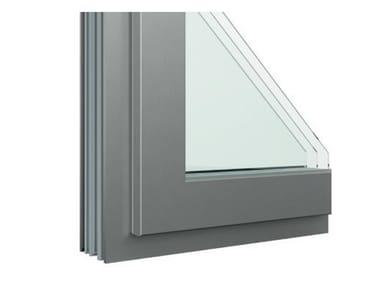Finestra in alluminio e legno con anta in Fibex Serie 503H