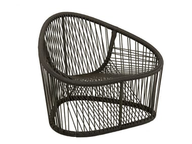 Stainless steel and PVC armchair CLUB 1009 | Armchair
