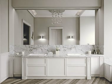 Oak bathroom furniture set AETERNA | Bathroom furniture set
