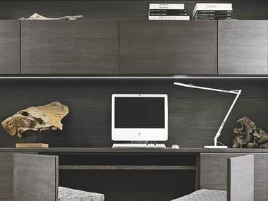 Parete attrezzata con scrivania integrata AETERNA   Parete attrezzata