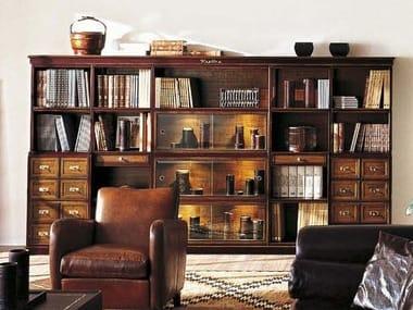 Libreria componibile in ciliegio con cassetti REPLICA | Libreria componibile