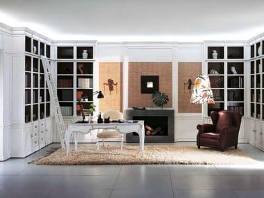 Wooden boiserie / bookcase PROGETTA | Boiserie