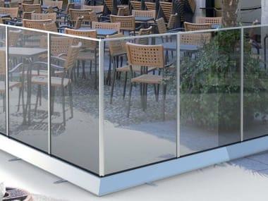 Modular glass Fence B-3004-3006-3008