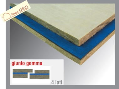 Rock wool Sound insulation and sound absorbing panel in mineral fibre GEOGUM R