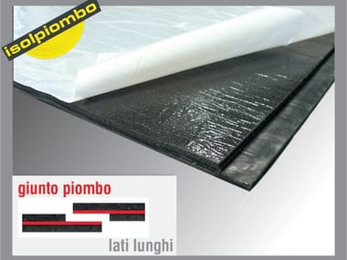 Sound insulation and sound absorbing felt with lead-laminate TUBACUSTIK