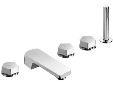 5 hole bathtub set with hand shower PARK | 5 hole bathtub set