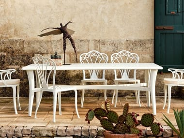 Rectangular aluminium garden table MEDITERRANEO | Table