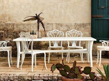 Tavolo da giardino rettangolare in alluminio MEDITERRANEO | Tavolo
