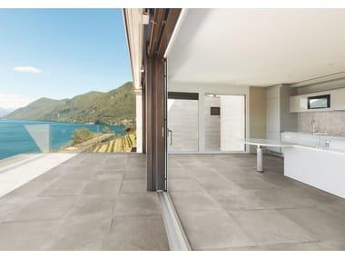 Porcelain stoneware outdoor floor tiles with stone effect PIETRA BAUGÉ | Outdoor floor tiles