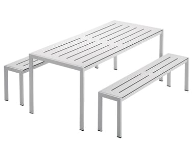 Steel garden table SANMARCO 2571