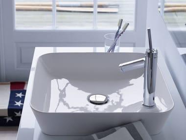 Lavabo da appoggio quadrato in DuraCeram® CAPE COD | Lavabo quadrato
