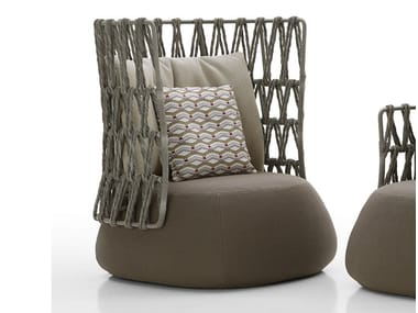 Upholstered high-back armchair FAT-SOFA OUTDOOR | High-back armchair