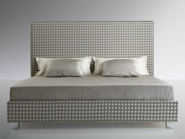 High upholstered headboard for double bed MODERNE