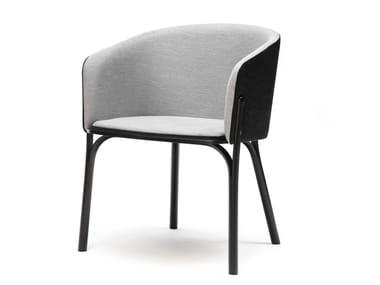 Petit fauteuil rembourré SPLIT | Petit fauteuil