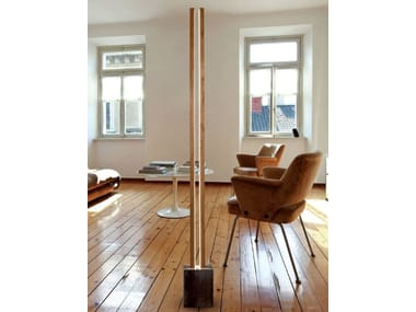 LED wooden floor lamp LUBOIS LT