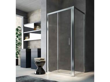 Box doccia angolare in vetro con porta scorrevole SLINTA SO+SH