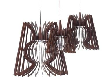 Steel pendant lamp LUME IRON