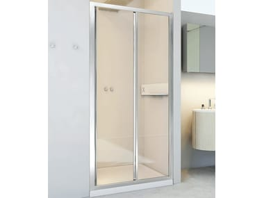 Niche glass and aluminium shower cabin with sliding door NEW LYRA SC1