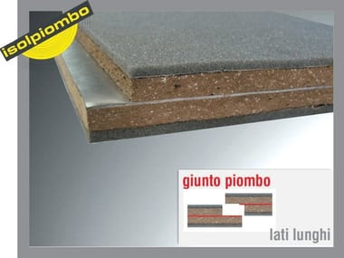 Sound insulation and sound absorbing felt with lead-laminate SPECIAL N
