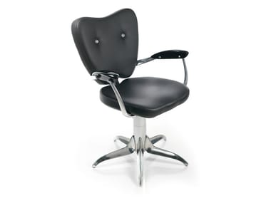 Swivel upholstered chair with armrests GRAND TORINO S