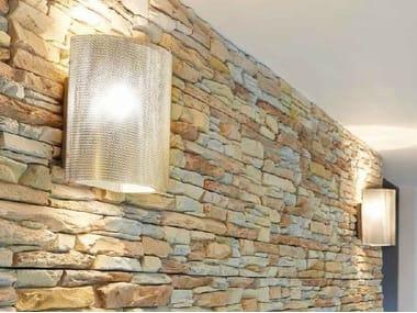 Halogen LED stainless steel wall light DEMI-LUNE