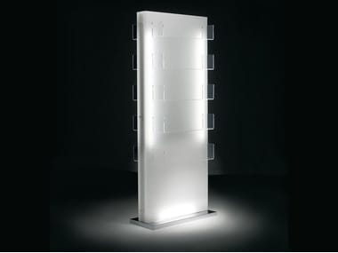 Double-sided plexiglass display unit with light LUMI DOUBLE FACE