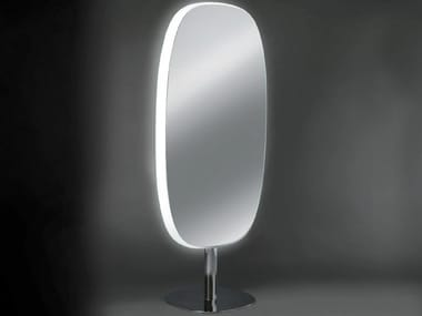 Double-sided oval mirror with integrated lighting URBAN DOUBLE FACE