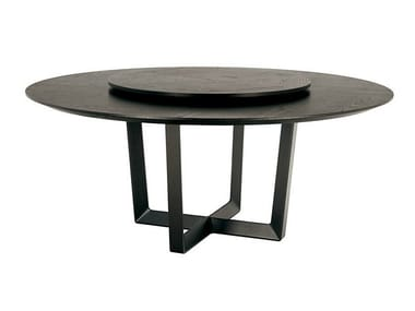 Round table with Lazy Susan BOLERO | Table with Lazy Susan