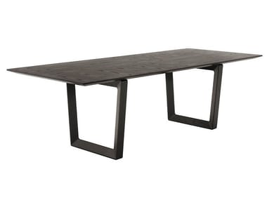 Rectangular solid wood table BOLERO | Rectangular table
