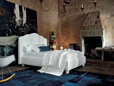Single bed with upholstered headboard ANASTASIA | Single bed