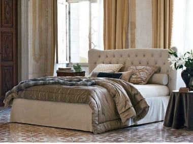 Double bed with tufted headboard TOMMY CAPITONNÈ WITH SKIRT
