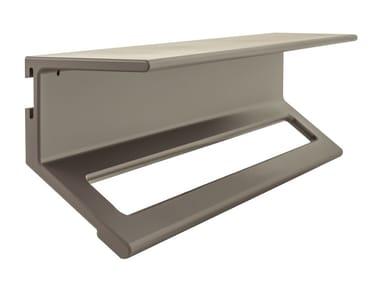 Porta asciugamani / mensola bagno in alluminio LISSOM | Porta asciugamani