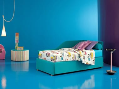 Upholstered kids storage bed MAYA | Kids storage bed