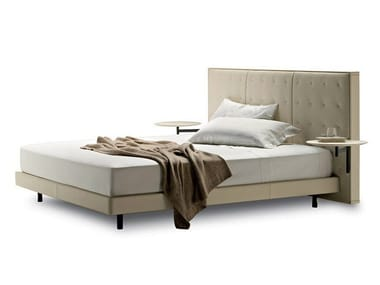 Bed with integrated nightstands with high headboard JACK