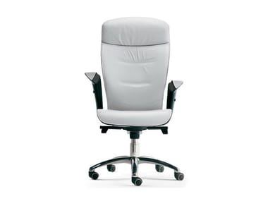 Swivel upholstered leather office chair BRIEF | Office chair