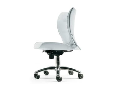 Swivel leather office chair with 5-Spoke base with castors BRIEF | Office chair