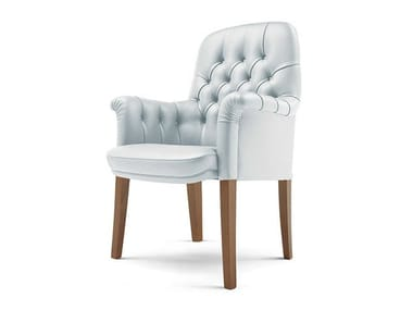 Tufted leather chair OXFORD | Reception chair