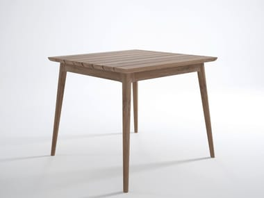 Square teak garden table VINTAGE OUTDOOR | Square table