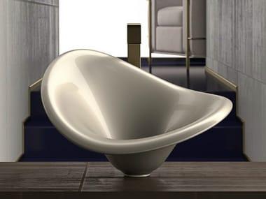 Countertop oval washbasin FLOWER