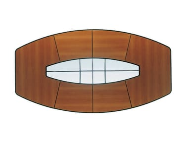 Walnut meeting table CORINTHIA MEETING | Walnut meeting table