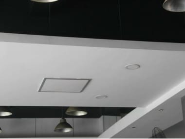 Infrared ceiling-suspended decorative radiator BUILT-IN