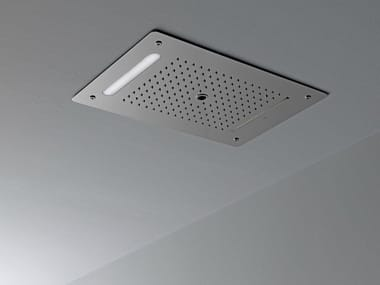 Ceiling mounted overhead shower with built-in lights LOUNGE | Ceiling mounted overhead shower